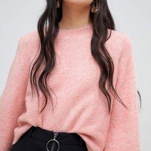 Balloon Sleeve Knit Sweater